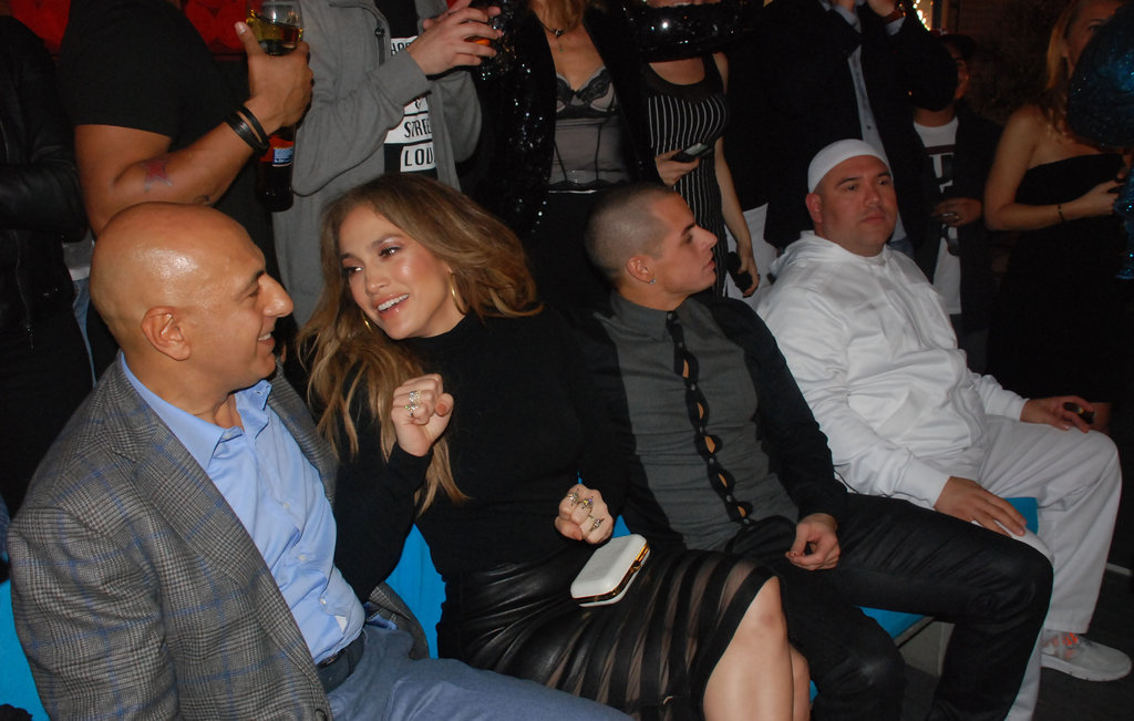Jennifer Lopez and Casper Smart socialized at a club.