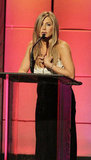 Jennifer Aniston was on stage at the American Cinematheque Awards in LA.