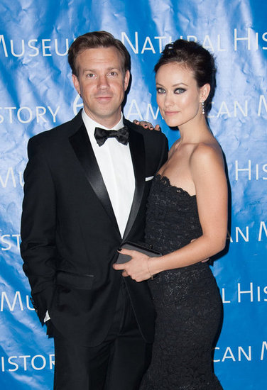 Olivia Wilde and Jason Sudeikis posed together.