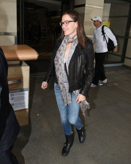 Jennifer Garner touched down at LAX.
