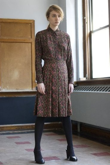 Thom Dolan Liberty Floral Oxford Silk Shirt Dress ($365)