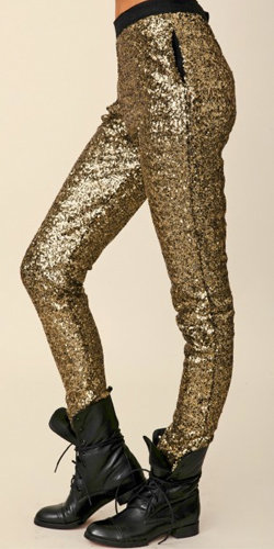 Pair these Style Stalker Goldfinger Sequin Pants ($200) with point-toe pumps and a tucked-in blouse for a chic take on evening sequins.