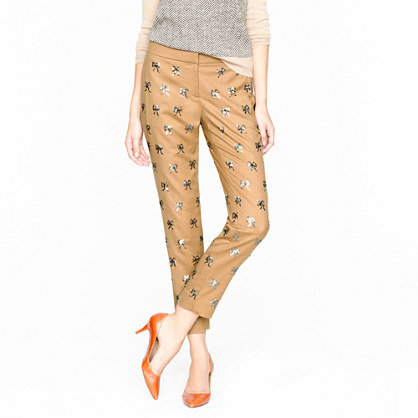 We love the idea of wearing these J.Crew Collection Sequin Bow Pants ($200, originally $495) with ballet flats and a cozy sweater for an off-duty weekend look.