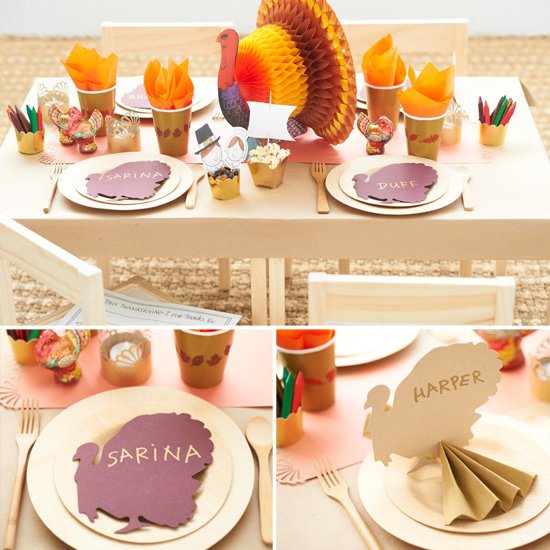 Create a Turkey-rific Kids' Table