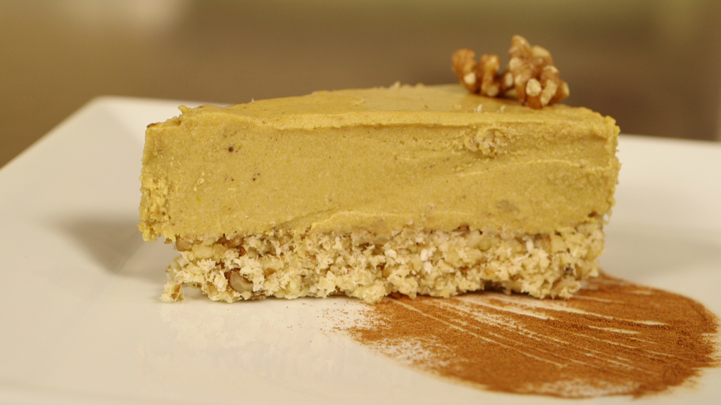 Desserts: Vegan Pumpkin Cheesecake