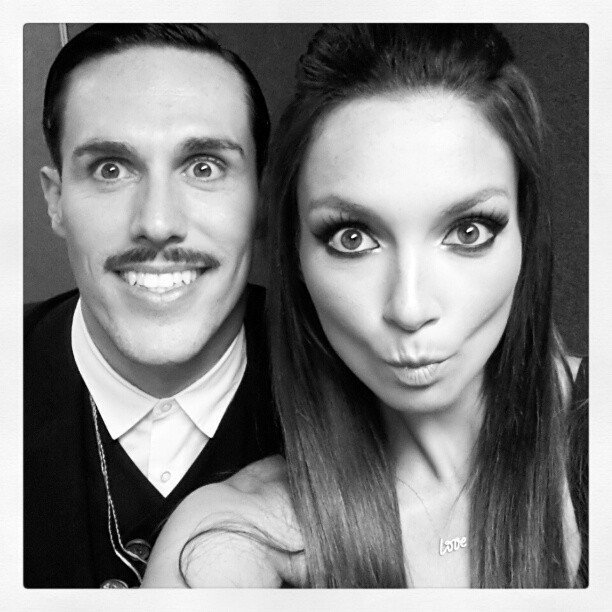 Sam Sparro and Ricki-Lee performed at the launch of a new phone. Source: Instagram user therickilee