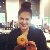 Alison got a delivery of hair donuts — with Krispy Kremes attached! — and Gen enjoyed both, thanks very much.