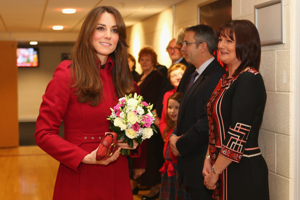 Kate Middleton wore an L.K.Bennett coat.