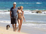 Julianne Hough and Ryan Seacrest showed PDA in Cabo.