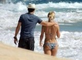 Julianne Hough wore a bikini to walk on the beach with Ryan Seacrest.