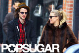 Sienna Miller and Tom Sturridge took a walk in NYC.