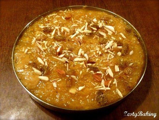Pumpkin & Almond Halwa by ZestyBaking