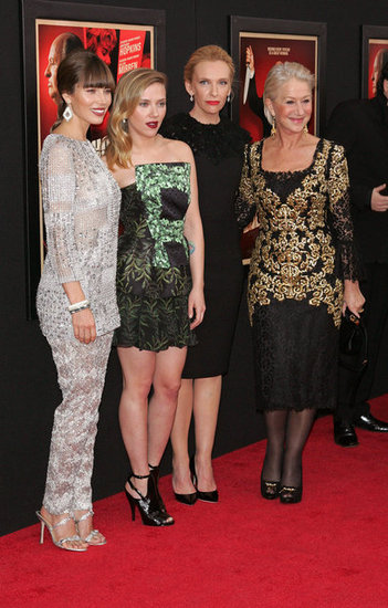 Jessica Biel, Scarlett Johansson, Toni Collette and Helen Mirren posed for photos in NYC.