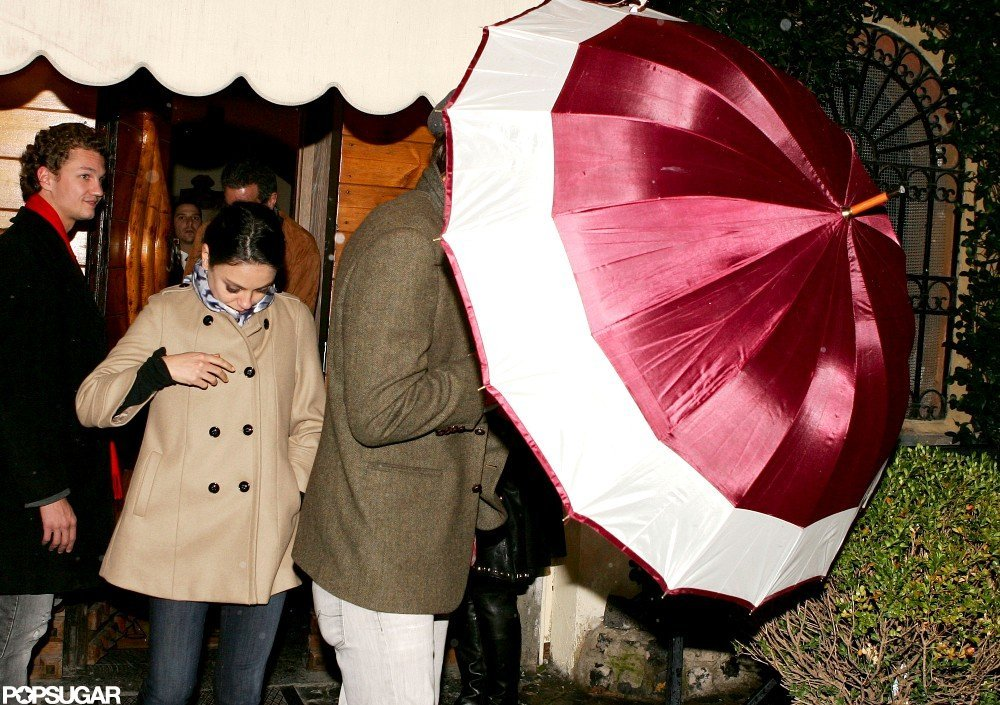 Mila Kunis wore a camel coat in rome.