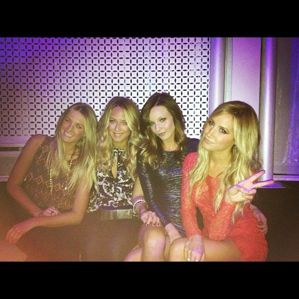 Ashley Tisdale hit up the Rolling Stone afterparty with some friends. Source: Instagram user ashleytis