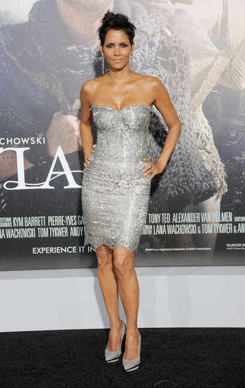 Halle Berry's silver lace Dolce & Gabbana cocktail dress is the ultimate New Year's Eve option: festive, chic, and totally sexy.
