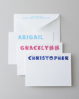 "Personalized ""Critter"" Cards"