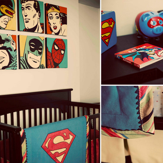 A Retro Superhero Nursery For a Superbaby