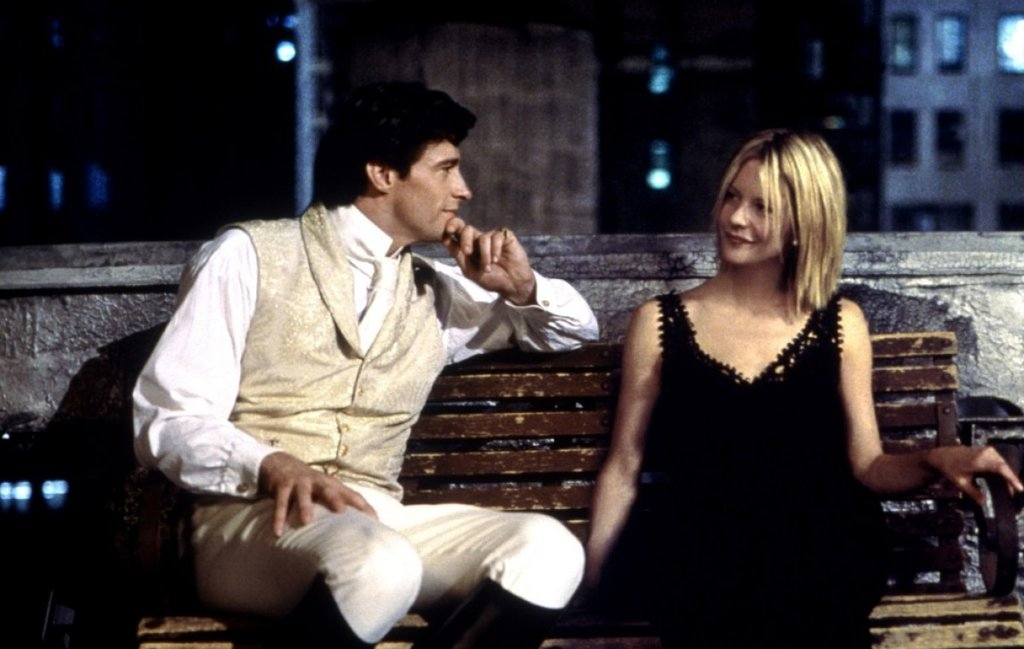 "Kate, Kate & Leopold ""Maybe that whole love thing is just a grown-up version of Santa Claus; just a myth we've been fed since childhood. So, we keep buying magazines, joining clubs, and doing therapy and wa"