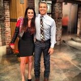 Andy Cohen posed with Kyle Richards as he filled in for Anderson Cooper on his talk show, Anderson. Source: Instagram user bravoandy