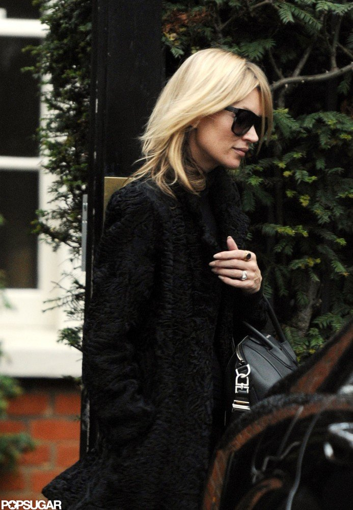 Kate Moss left her home in London.