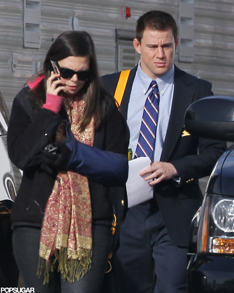 Channing Tatum reported to his new set in Pittsburgh.