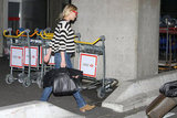 Diane Kruger was on the move with her bag in her hand.