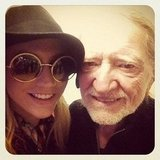 Ke$ha snapped a pic with Willie Nelson. Source: Instagram user iiswhoiis