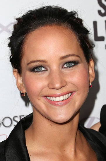 Jennifer Lawrence wore her hair back for the Silver Linings Playbook LA premiere.