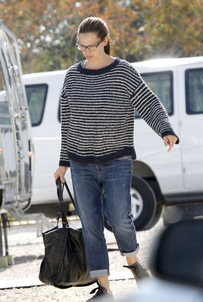 Jennifer Garner arrived on the set of her latest film in New Orleans.