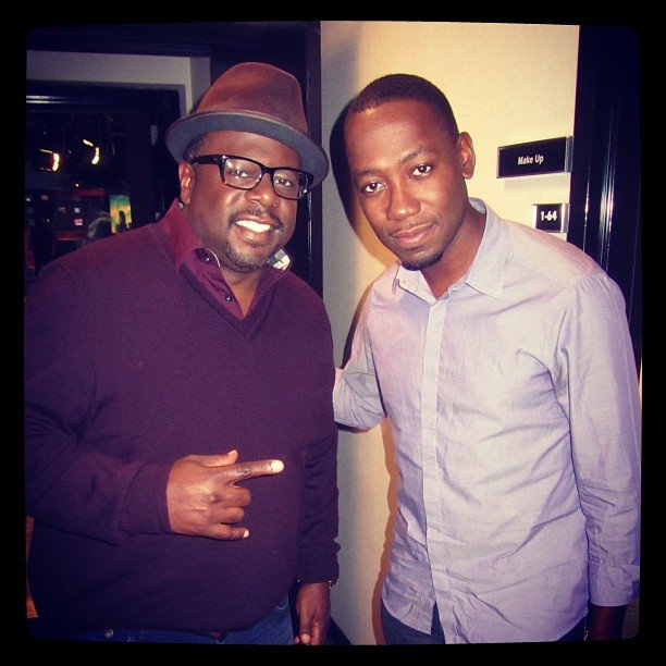 Lamorne Morris shared a photo with Cedric the Entertainer. Source: Instagram user lamorne