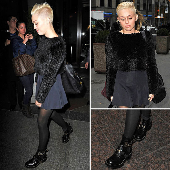 Miley Cyrus New Haircut in NYC | Nov. 20, 2012
