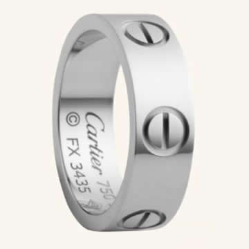 Cartier Love Ring in White Gold