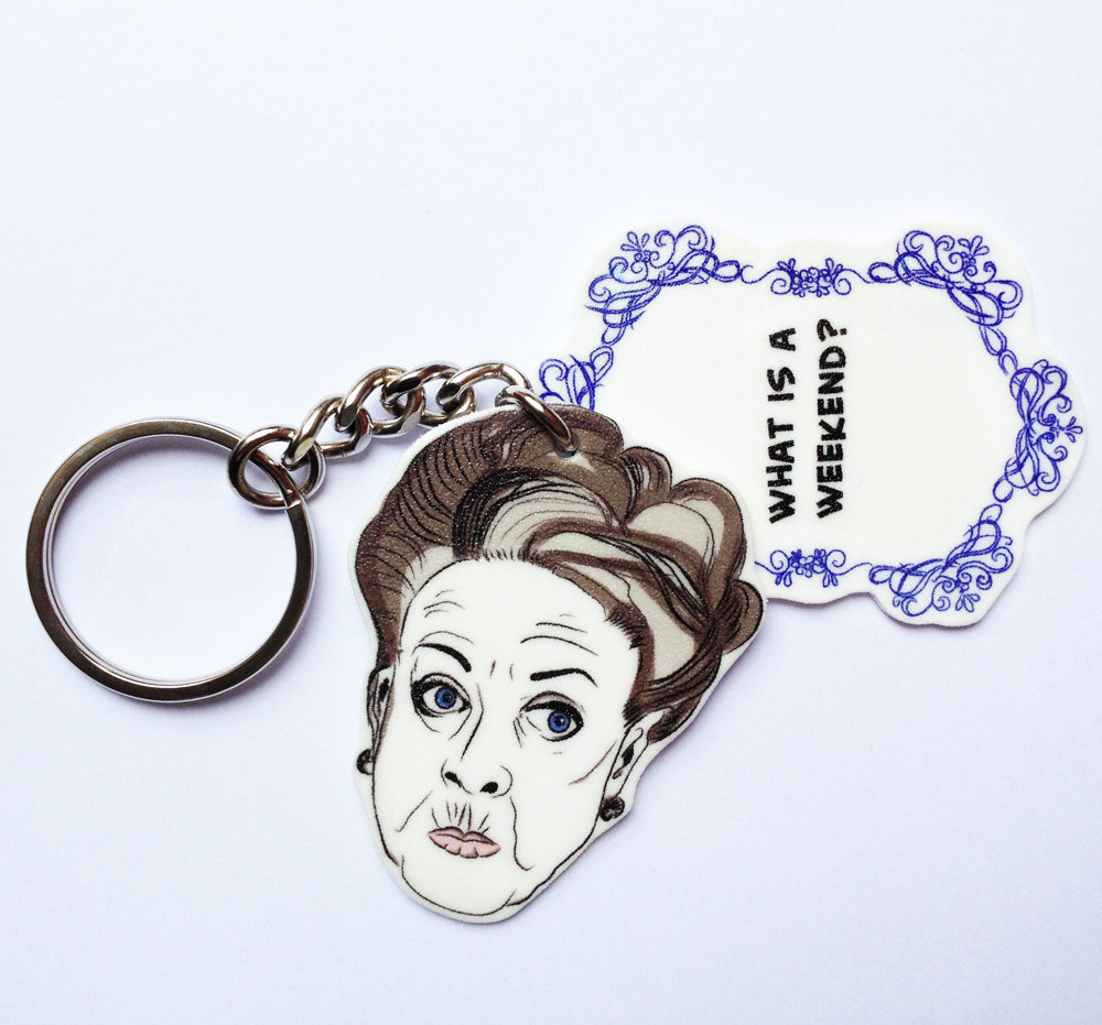 Violet Dowager Keychain