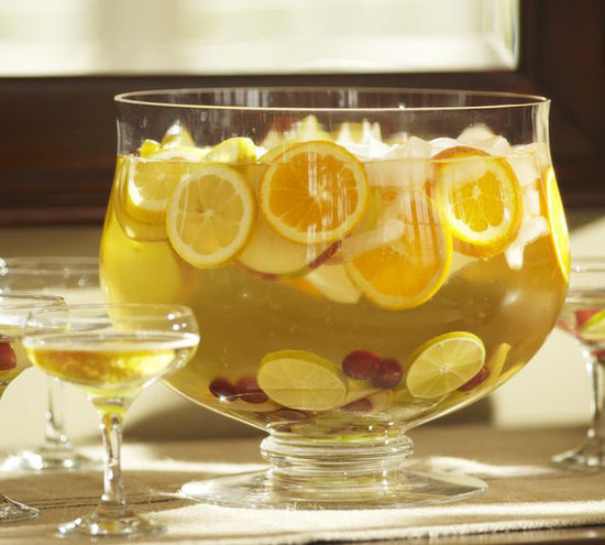 Punch Bowl With a Footed Base