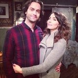 Whitney Cummings gave her onscreen love Chris D'Elia a hug. Source: Instagram user therealwhitney