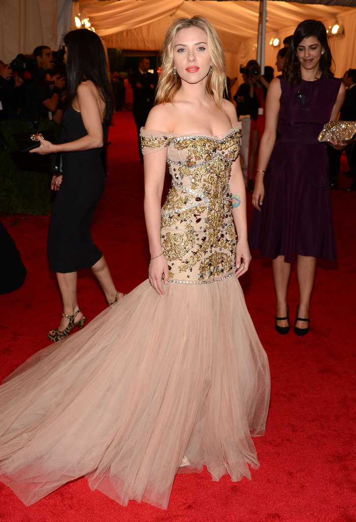 Scarlett Johansson attended the Costume Institute Gala at NYC's Metropolitan Museum in May 2012.