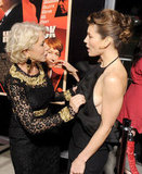 Jessica Biel linked up with Helen Mirren at the Hitchcock premiere in LA.