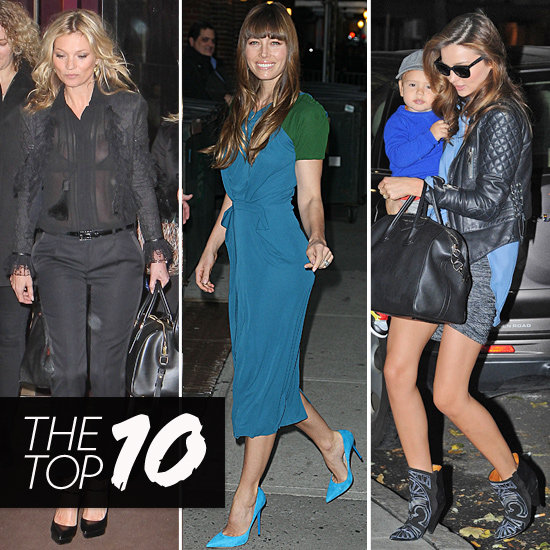 Kate Moss, Miranda Kerr, and Jessica Biel Take Top Spots in Our Top 10