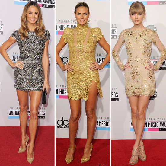 It was the battle of the metallic minis at the American Music Awards! Did you vote on your favorite look?