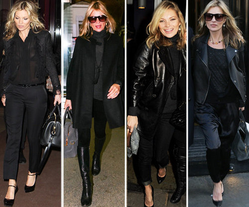 Kate Moss Black on Black Style