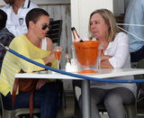 Charlize Theon debuted a much shorter new do as she lunched with mum Gerda in Cape Town on November 17.