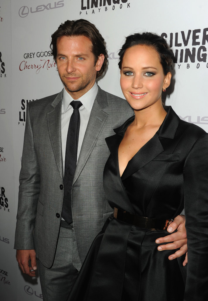 Bradley Cooper and Jennifer Lawrence made a good-looking pair of co-stars on November 19 when they attended a screening of their upcoming film Silver Linings Playbook.