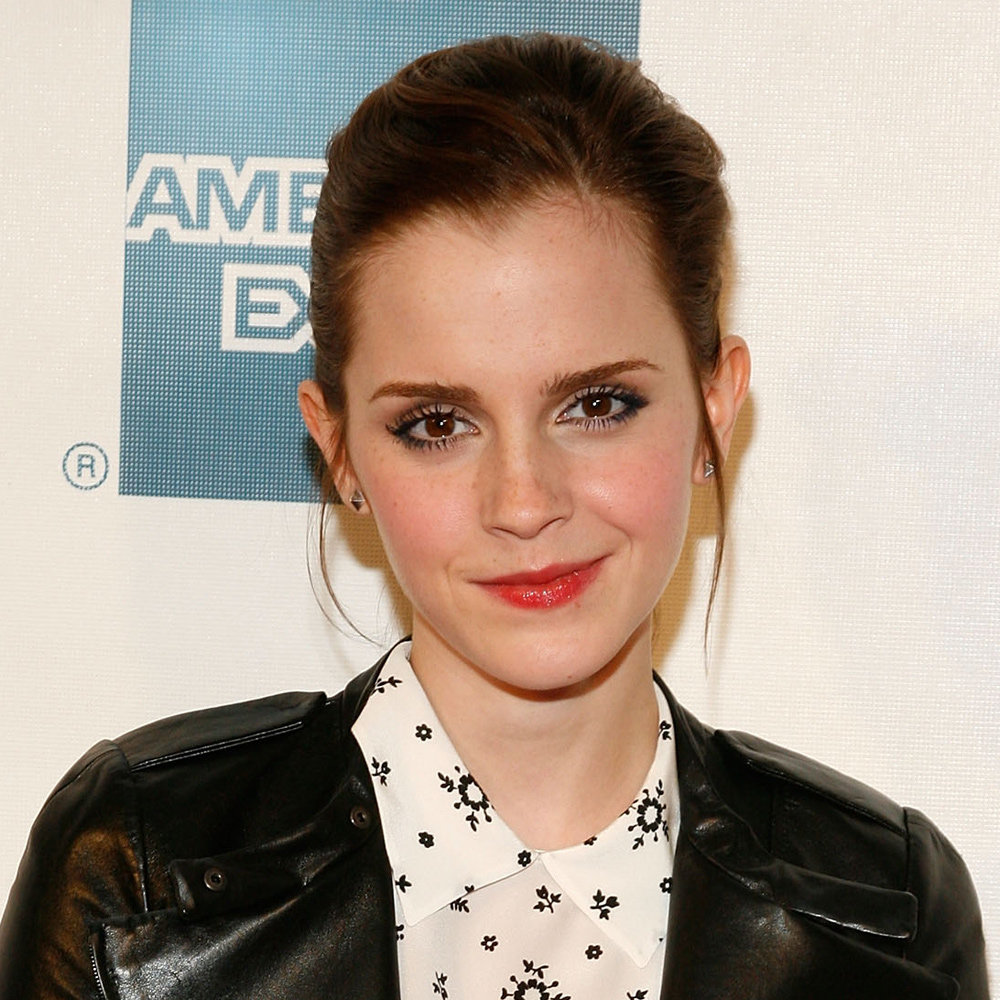 Those soft and pretty tendrils on either side of Emma's face make this April 2012 look one of our faves.