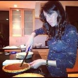Whitney Cummings got into pie cutting. Source: Instagram user therealwhitney