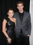Miley and Liam Hemsworth premiered their movie The Last Song in LA in Mar. 2010.