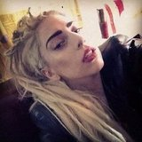Lady G showed off some seriously fierce eyebrows. Source: Instagram user ladygaga