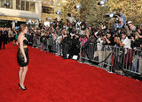Miley worked the red carpet at the 2008 American Music Awards.