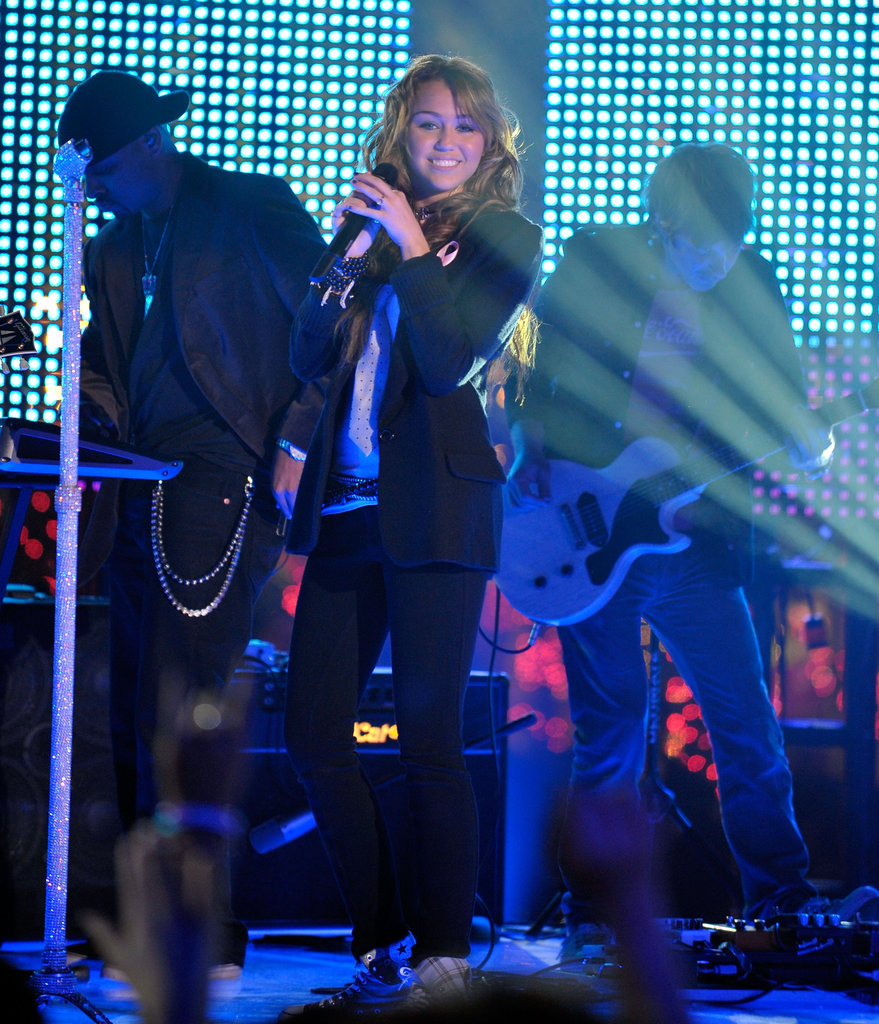 Miley performed on MTV's New Year's Eve special in Dec. 2008.