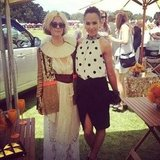 sass & bide co-creator Sarah-Jane Clarke hung out with Pip Edwards at the Polo in the City. Source: Instagram user pip_edwards1